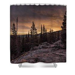 Rocky Mountain Skyfire Shower Curtain