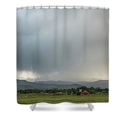 Rocky Mountain Storming Shower Curtain