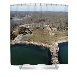 Rocky Neck Paviliion Shower Curtain