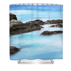 Shower Curtain featuring the photograph Rocky Ocean by John A Rodriguez