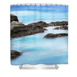 Rocky Ocean Shower Curtain by John A Rodriguez