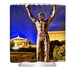 Rocky Shower Curtain by Paul Ward