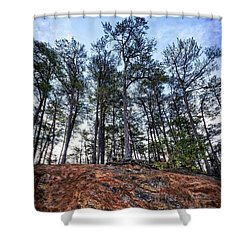 Shower Curtain featuring the photograph Rocky Pines by Alan Raasch