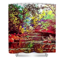 Rocky Rainbow River Shower Curtain