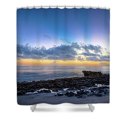 Shower Curtain featuring the photograph Rocky Reef At Low Tide by Debra and Dave Vanderlaan