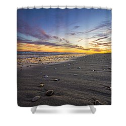 Rocky Roger's Beach Sunset Shower Curtain