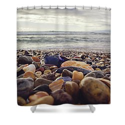 Shower Curtain featuring the photograph Rocky Shore by April Reppucci