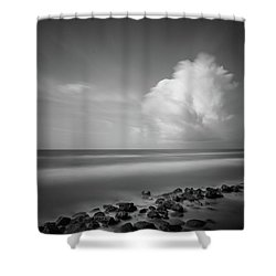 Shower Curtain featuring the photograph Rocky Shoreline by Todd Aaron