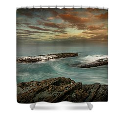 Rocky Shores At Victoria Beach Shower Curtain
