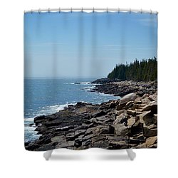 Rocky Summer Shore Shower Curtain