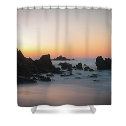 Rocky Sunrise Shower Curtain