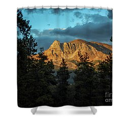 Rocky Sunset Shower Curtain by Patricia Hofmeester