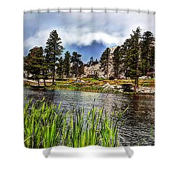 Rocky Waters Shower Curtain by Deborah Klubertanz