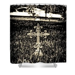 Rod Iron Cross  Shower Curtain