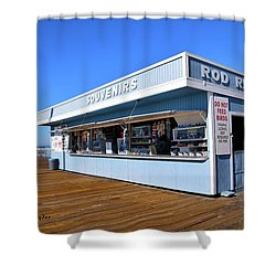 Shower Curtain featuring the photograph Rod Rental At The Pismo Beach Pier by Floyd Snyder