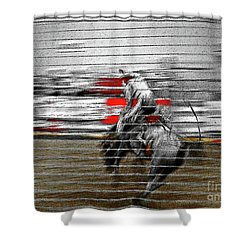Rodeo Abstract V Shower Curtain