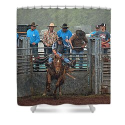 Shower Curtain featuring the photograph Rodeo Bronco by Lori Seaman