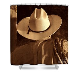 Rodeo Cowboy Shower Curtain by American West Legend By Olivier Le Queinec