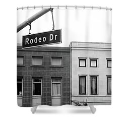 Shower Curtain featuring the photograph Rodeo Drive Beverly Hills by Art Block Collections