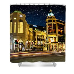 Rodeo Drive Under The Stars Shower Curtain by Robert Hebert