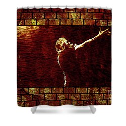 Rodger Waters The Wall Shower Curtain by Robert Ball