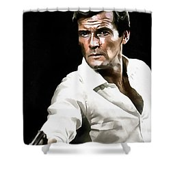Roger Moore Shower Curtain