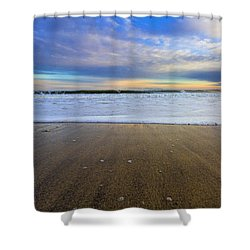 Roger's Beach Shorebreak Shower Curtain