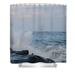 Shower Curtain featuring the photograph Roiling Seas by Robert Banach