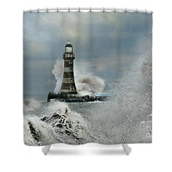 Roker Pier And Lighthouse Shower Curtain