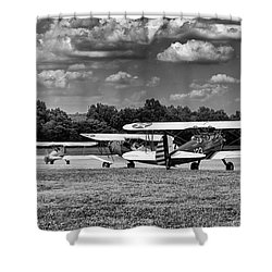 Shower Curtain featuring the photograph Roll Out  For Take Off by Alan Raasch
