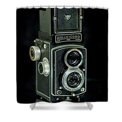 Shower Curtain featuring the photograph Rollei Twin Lense by Keith Hawley