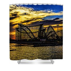 Roller Coaster Sunset Shower Curtain