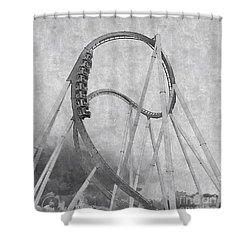 Hulk Roller Coaster Ride Shower Curtain