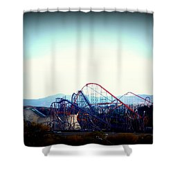 Roller Coasters At Twilight Shower Curtain