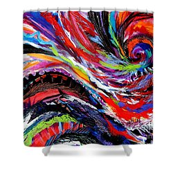Rolling Detail Three Shower Curtain by Expressionistart studio Priscilla Batzell