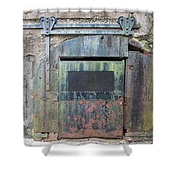 Rolling Door To The Bunker Shower Curtain by Gary Slawsky
