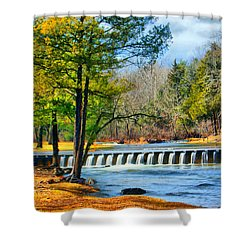 Rolling Down The River Shower Curtain by Rick Friedle