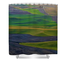 Rolling Fields Of The Palouse Shower Curtain by James Hammond