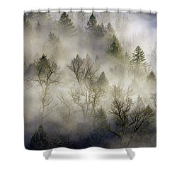 Rolling Fog In Sandy River Valley Shower Curtain by David Gn