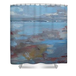 Rolling Fog Shower Curtain by Trina Teele