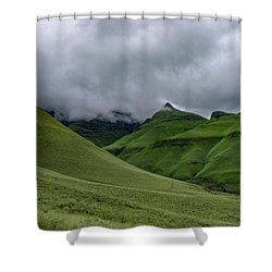 Rolling Green Drakensberg Mountains Shower Curtain