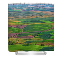 Rolling Green Hills Of The Palouse Shower Curtain by James Hammond