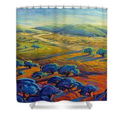 Rolling Hills 3 Shower Curtain