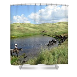 Rolling Hills Shower Curtain by Diane Bohna
