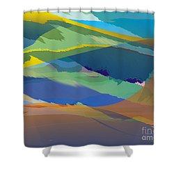 Rolling Hills Landscape Shower Curtain