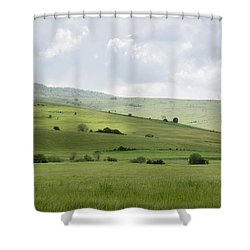 Rolling Landscape, Romania Shower Curtain