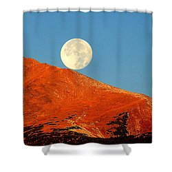 Shower Curtain featuring the photograph Rolling Moon by Karen Shackles