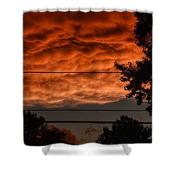 Shower Curtain featuring the photograph Rolling Skies by Nikki McInnes