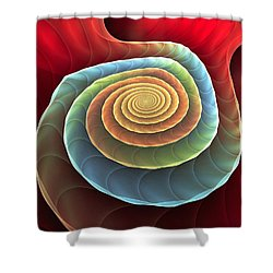 Shower Curtain featuring the digital art Rolling Spiral by Anastasiya Malakhova