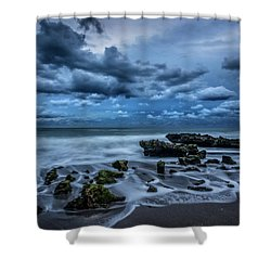 Shower Curtain featuring the photograph Rolling Thunder by Debra and Dave Vanderlaan